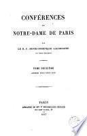 Conférences de Notre-Dame de Paris, 2