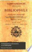 Connaissances nécessaires à un bibliophile