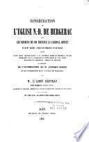 Consécration de l'Eglise N.-D. de Bergerac, avec les discours de son éminence le Cardinal Donnet et de Mgr Dabert,...
