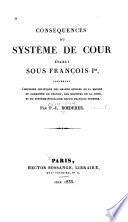 Conséquences du système de cour établi sous François Ier