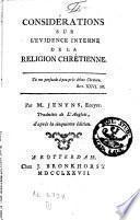 Considérations sur l'évidence interne de la religion chrétienne