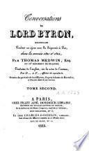 Conversations de Lord Byron