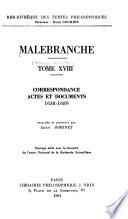 Correspondance. Actes et documents, 1638-1689