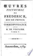 Correspondance avec M. de Voltaire