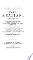 Correspondance avec madame d'Épinay, madame Necker etc. Diderot, Grimm etc