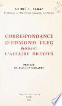 Correspondance d'Edmond Fleg pendant l'affaire Dreyfus : 1894-1926