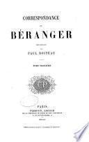 Correspondance de Béranger