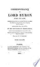Correspondance de lord Byron avec un ami ... R. C. Dallas