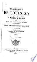 Correspondance de Louis XV et du maréchal de Noailles
