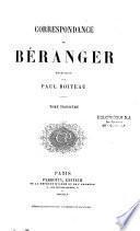 Correspondance de P.-J. de Béranger