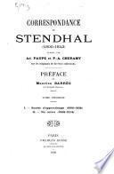 Correspondance de Stendhal (1800-1842)