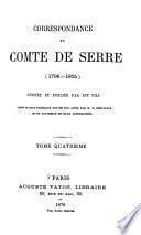 Correspondance du comte de Serre (1796-1824)