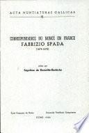 Correspondance du nonce en France: Fabrizio Spada (1674-1675)