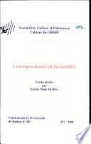 Correspondance et sociabilité