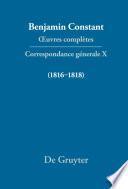 Correspondance générale 1816–1818