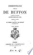 Correspondance inédite de Buffon