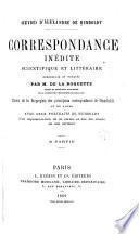 Correspondance inedite scientifique et littéraire