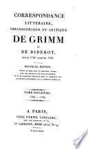 Correspondance littéraire,.