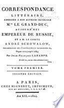 Correspondance littéraire