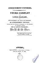 Cour complet de langue française