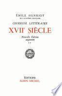 Courrier littéraire, dix-septième siècle -