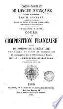 Cours complet de langue française