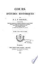 Cours d'études historiques