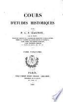 Cours D'études historiques: Recherches sur les systèmes philosophiques applicables à l'histoire