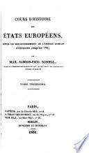 Cours d'histoire des états européens