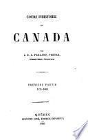 Cours d'histoire du Canada