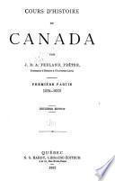 Cours d'histoire du Canada: ptie. 1534-1663