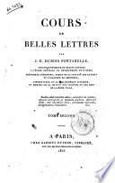 Cours de belles lettres par J.C. Dubois Fontanelle, ... Tome premier [-quatrieme]