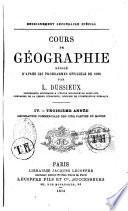 Cours de géographie, rédigé d'après les programmes officiels de 1866
