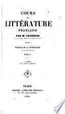 Cours de littérature française par m. Villemain ...
