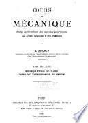 Cours de mécanique: Mécanique spécial des fluides. Hydraulique. Thermodynamique. Air comprimé. 1911. [4], 349 p