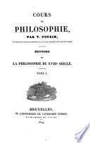 Cours de philosophie. Histoire de la philosophie du XVIIIe siècle