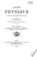 Cours de physique à l'usage des élèves de la classe de mathématiques spéciales