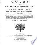 Cours De Physique Experimentale Et Matématique