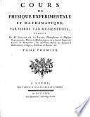Cours de physique expérimentale et mathématique, etc