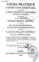 Cours pratique d'instruction élémentaire... de la langue française