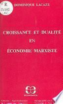 Croissance et dualité en économie marxiste