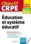 CRPE en fiches : Éducation et système éducatif - 2016