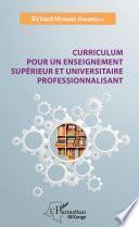 Curriculum pour un enseignement supérieur et universitaire professionnalisant