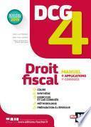DCG 4 - Droit fiscal - Manuel et applications