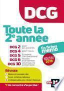 DCG : Toute la 2è année du DCG 2, 4, 5, 6, 10 en fiches - Révision
