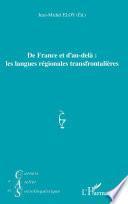 De France et d'au-delà : les langues régionales transfrontalières