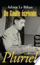 De Gaulle écrivain