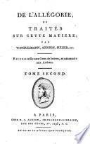 De l'allégorie, ou Traités sur cette matière; par Winckelmann, Addison, Sulzer, etc. [tr. and ed. by H. Jansen].