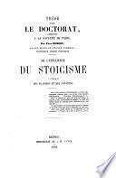 De l'influence du stoïcisme à l'époque des Flaviens et des Antonins
