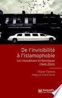 De l'invisibilité à l'islamophobie